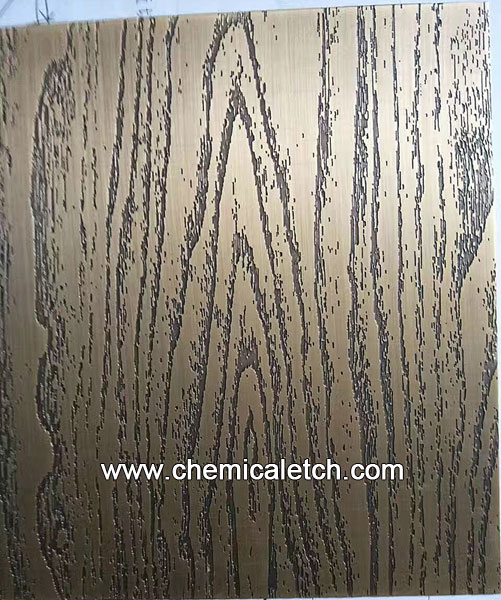 Etched Wood Grain Pattern on Brass