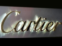 backlit brass Logo sign