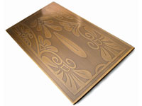Etched Decorative brass bronze sheet