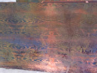 Etching Wood Grain copper plate