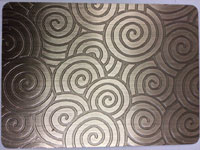 Bronze Color Etched Decorative Sheet