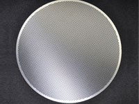 Etched stainless steel filter mesh