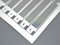 Etching stainless steel mesh for electronic parts