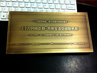 acid etching brass bronze plaque